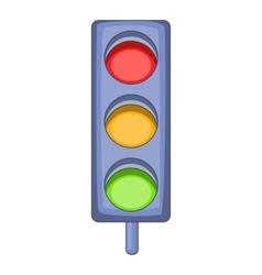 Traffic light icon cartoon style vector