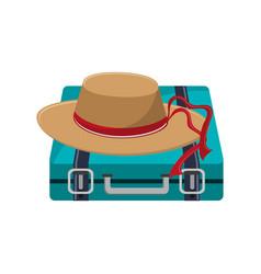 Travel briefcase icon vector