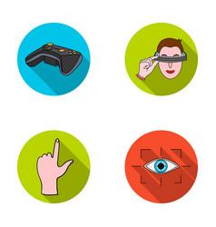 Virtual reality helmet computer technology vector