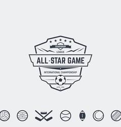 Championship emblem vector image
