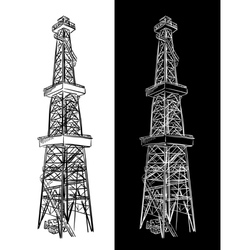 Oil rig sketch vector