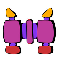 binoculars icon icon cartoon vector image