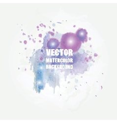 Violet watercolor splash format for your design vector