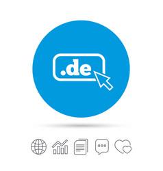 domain de sign icon top-level internet domain vector image