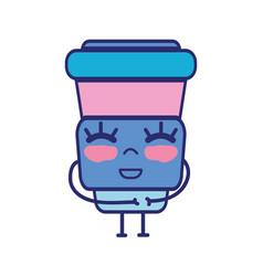 Kawaii cute happy soda food vector