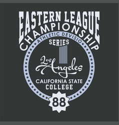 Eastern league championship vector