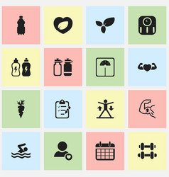 Set of 16 editable lifestyle icons includes vector