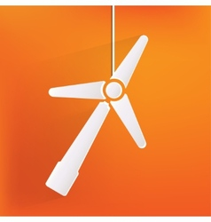 Wind turbine icon eco concept vector