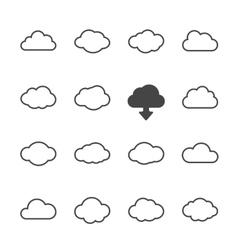 Cloud shapes set vector image