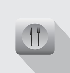 Restaurant and cafe icon vector