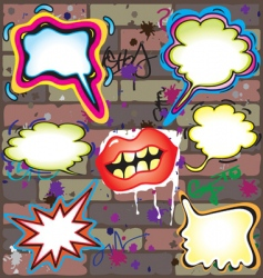 Graffiti thought bubbles vector