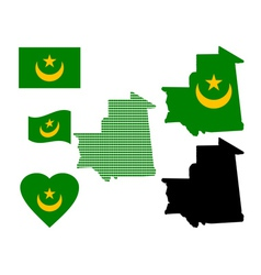 Map of mauritania vector