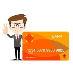 Man with credit card for use in advertising vector