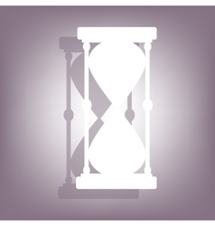 Hourglass icon with shadow vector
