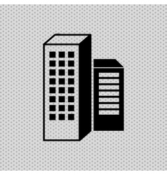 Building icon design vector