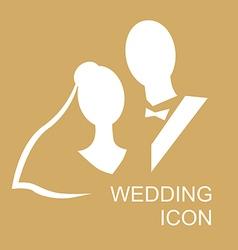 Wedding icon gold vector