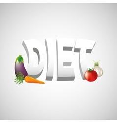Healthy diet design vector