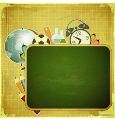 Retro back to school Design vector image