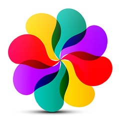 Abstract Colorful Transparent Flower Shape vector image