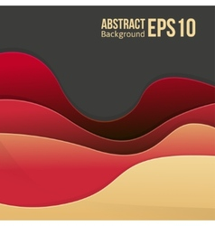 Abstract red light background forms a smooth vector image vector image