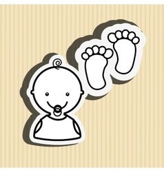 Baby with toy design vector