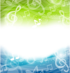 Background with Musical Elements vector image vector image