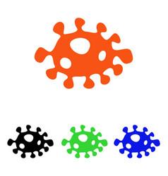 Bacteria flat icon vector