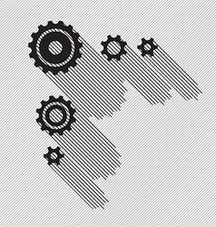Black gears set vector image vector image