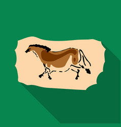 cave painting icon in flate style isolated on vector image vector image