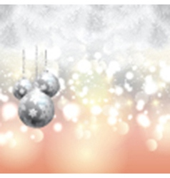 Christmas tree and bauble background vector image vector image