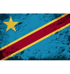 Congo flag grunge background vector