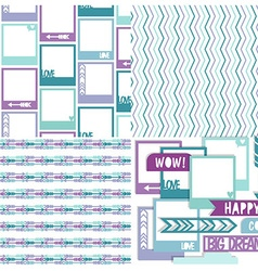 Cute scrapbook design elements vector