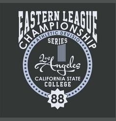 Eastern league championship vector
