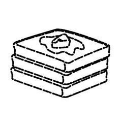 Fresh bread sliced vector