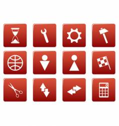 gadget square icons vector image