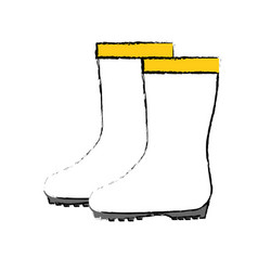 Gardening boots wear vector