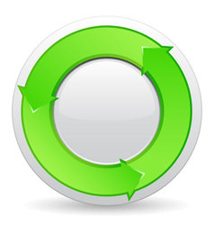green button with arrows vector image vector image