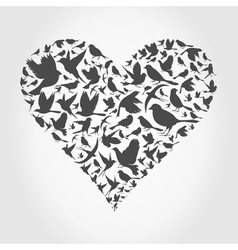 Heart a bird2 vector image
