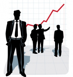 illustration of businessman silhouette vector image vector image