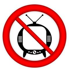 No tv sign vector