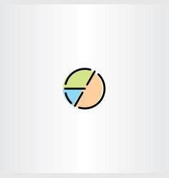 pie chart icon symbol element vector image