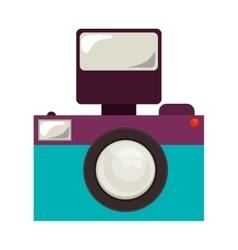 Retro photographic camera vector