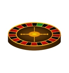 Roulette casino las vegas game lucky icon vector