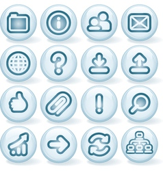 Shiny Buttons 3 vector image vector image
