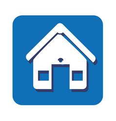 Square button facade house icon design vector