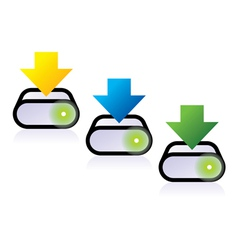 three download icons vector image