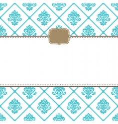 Victorian pattern vector image vector image