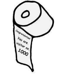 Visitor no 1000 vector