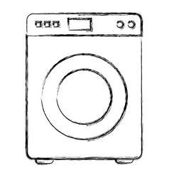 Washer machine isolated icon vector
