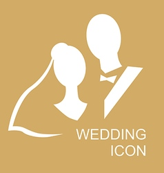 wedding icon gold vector image vector image